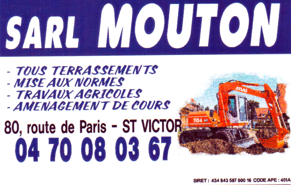 Carte De Visite SARL Mouton
